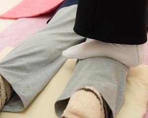 【さいたま市より】足がむくんで重怠い時は足ふみリンパマッサージ最が高ですよ!