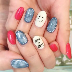 *My nail* デニムネイル