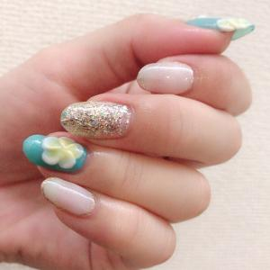 *My nail* プルメリアネイル