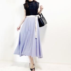 【GU】レースで涼し気♡お気に入りのフレアスカート