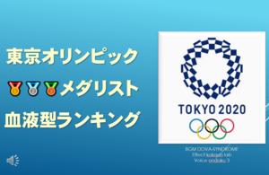 YouTube 東京オリンピックメダリスト 血液型ランキング