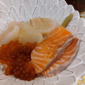 残業の海鮮丼