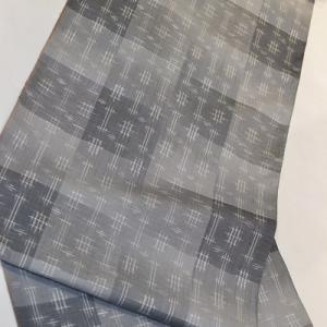 「帯締同色は面白くない?」一日1コーディネート小物チェンジ【067】市松模様グレー紬&洒落袋帯