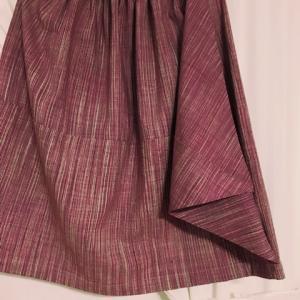 紫の紬スカート1枚目