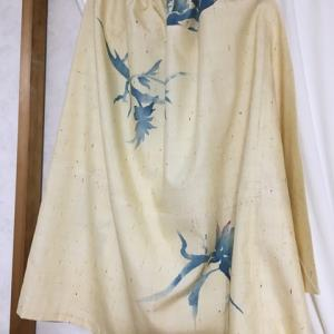 紬のスカート