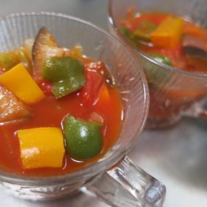 夏野菜でラタトゥユ・・・・お豆腐入りハンバーグ・・・