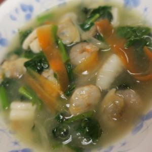 空心菜の中華風…瀬付きアジ御膳に・・・・カボチャのあとの片づけ