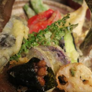 温野菜が美味しい・・・・天ぷらに・・・家の前の畑の様子・・・・オクラ撤収しました