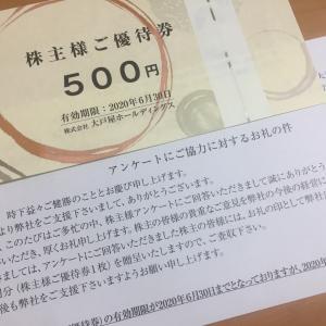 500円分の食事券が届きました。大戸屋、有効期限も延長。