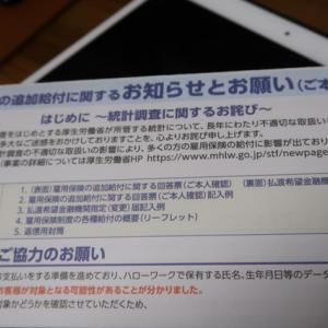 厚生労働省から失業保険の未払い(追加給付)の申し込み書が今頃来た)