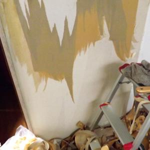 100均リメイクシートでキッチンの壁を貼り替えました(^O^)/