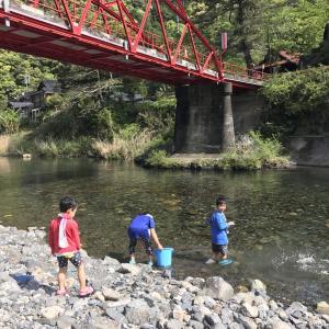 岩国 川遊び