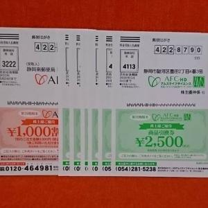 【2927】株主優待 AFC-HD 優待券の贈呈(2020年)