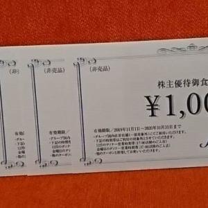 【3063】ジェイグループ お食事券の贈呈(2020年)