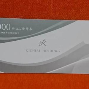 【3082】きちり 株主優待券の贈呈(2020年)