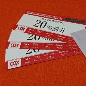 【9876】コックス 株主優待の割引券の贈呈(2020年)