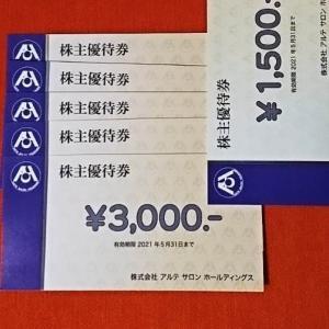 【2406】アルテサロンホールディングス 株主優待の贈呈(2020年)