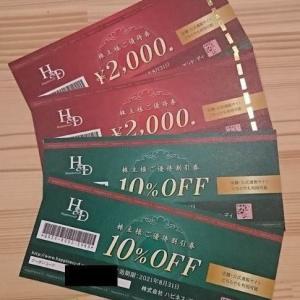 【3174】ハピネス・アンド・ディ 株主優待券の贈呈(2020年)