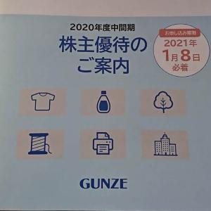 【3002】グンゼ 株主優待カタログの到着(2020年)
