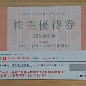 【7606】ユナイテッドアローズ 株主優待の贈呈(2021年)