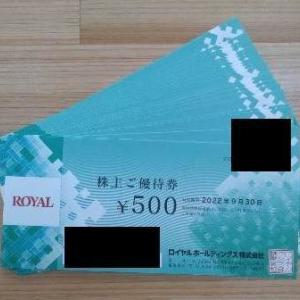 【8179】ロイヤルホールディングス 株主優待の贈呈(2021年)