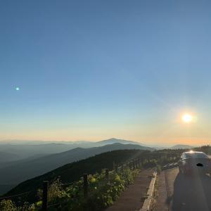 2021.07.19 昨日の夕陽、今日の夕陽。