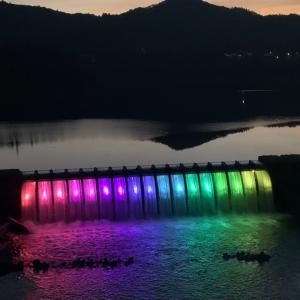 2021.09.20 錦秋湖大滝ライトアップ(2021.09.19訪問)