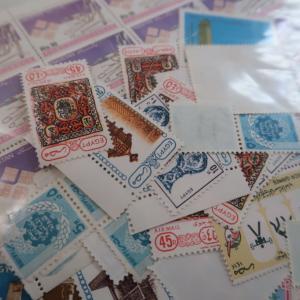 Stamp unused 未使用の切手に懐かしさを感じる。毎日エアメールを書いてた日々