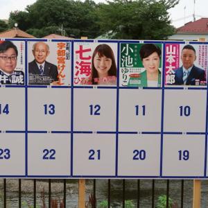 Tokyo Governer 都知事選だけど、私は帰国して1か月なので選挙権がない