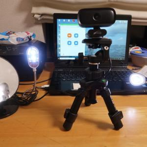 Web Camera support 夏休みの工作 ウエブカメラを三脚に固定するために、、