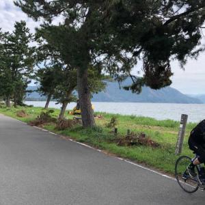 奥琵琶湖畔をロードバイクで走る(湖北道の駅~マキノ)