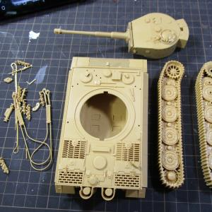 タミヤ 1/48 タイガーI後期生産型 製作記2