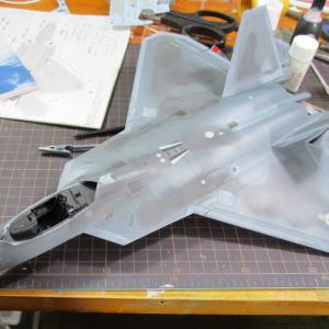 ハセガワ 1/48 F22ラプター 製作記3