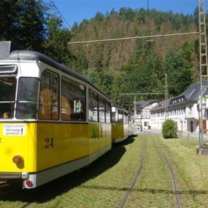 路面電車とボート ~Die erste Fahrt mit Kirnitzschtalbahn~