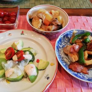 殆ど野菜の夕飯