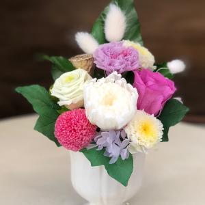 プリザーブドフラワーの仏花です