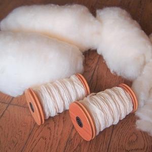 綿紡ぎと秋のベランダ
