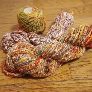 今年の双糸でマフラーを編む