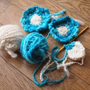 手編みコースター、ついに完了?