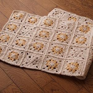 自家製手紡ぎ綿の編み物完成