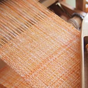オレンジシャーベットのマフラーを織る