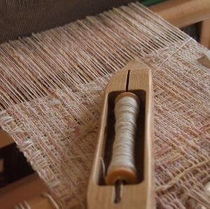 手織りと手編み、どちらも微妙…