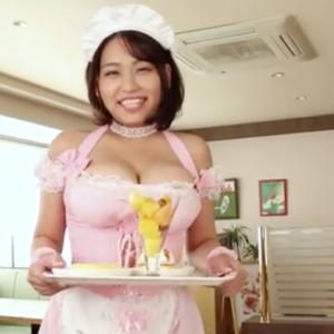 【I-cup】ふわみん(B100)乳揺れMAXのメイドコス擬似セックス動画