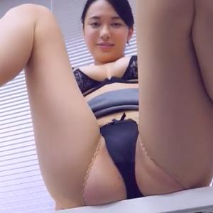 【F-cup】山中知恵(B87)オフィスで尻出しからのM字開脚擬似セックスがエグすぎる動画