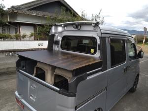 猟車「デッキバン」の荷台改造(完)!