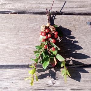 節分飾りを手作りする【スワッグ】なら自然のもので木の実が生きる!