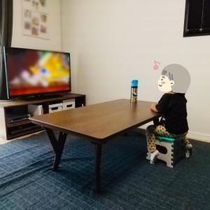 子育て期に合う安全なテレビ台をDIY。予算15,000円で作ったコンパクトなシンプルなテレビ台。