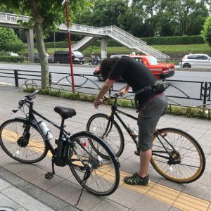 自転車漕いで会社集合
