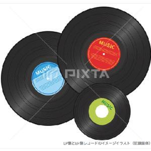 LP盤とEP盤レコード/イラスト素材販売
