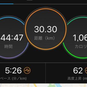 朝ラン30キロ